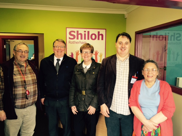 From left, Shiloh Chairman, John McDonnell, RMBC Project Manager, Andrew Lumb, RMBC Project Assistant Nicola Antcliff, Shiloh Centre Manager, Kevin Quinton and Shiloh founder Sue Savage
