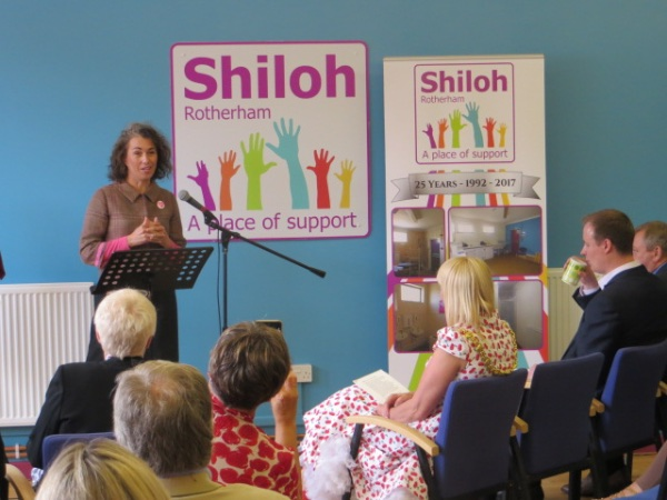 MP and Shiloh patron Sarah Champion praises Shiloh for serving the community for 25 years