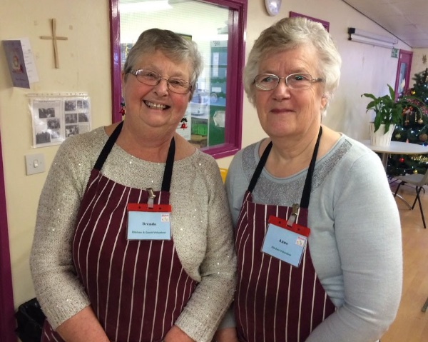 Brenda and Anne, faithful volunteers