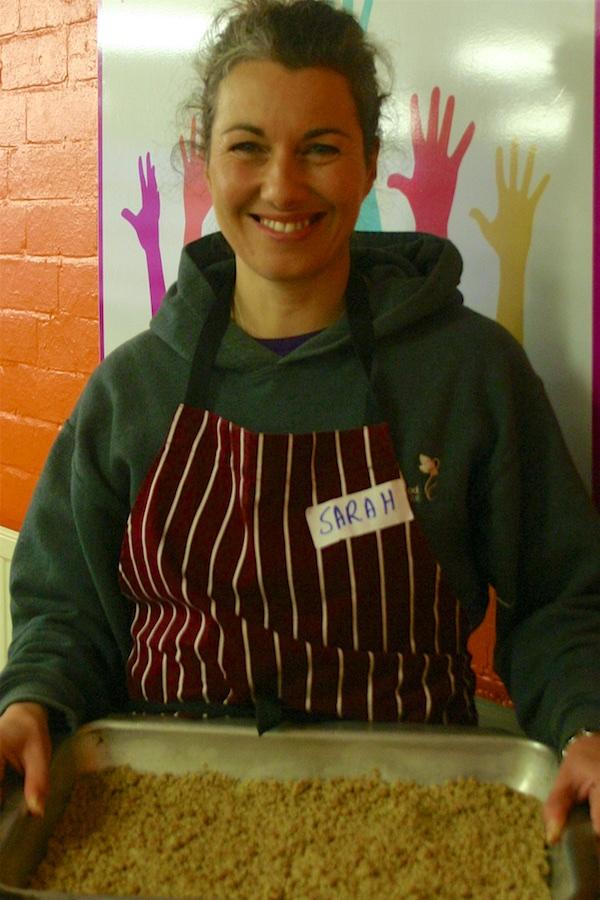 Sarah Champion MP serves at Shiloh