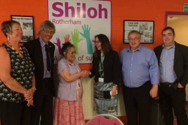 Sharon Kemp, RMBC Chief Executive meets members of the Shiloh Board of Trustees